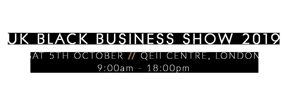 UK Black Business Show 2019